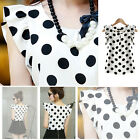 Fashion New Women's Casual Chiffon Blouse Short Sleeve Shirt T-shirt Summer Tops
