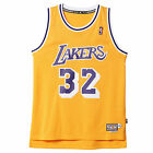adidas Los Angeles Lakers Magic Johnson Replica Retired NBA Jersey Vest Yellow