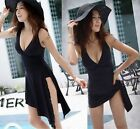 2-Way Womens One-piece Padded Monokini Bikini Swimsuit Swimwear Tankini Dress