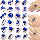 40 Styles Women Jewelry Sapphire Quartz Gemstone Silver Ring Gift Size 6-13 New