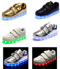 LED KIDS CHILDREN JUNIOR Light Up Trainers Dance Disco Shoes Sneakers Luminous