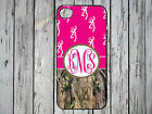 iPhone 4 4s 5 5s 5c 6 plus case camouflage camo browning pink monogram country