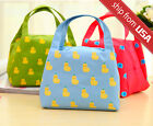 Cute Kawaii Animal Lunch Carry Tote Storage Bento Bag Waterproof Travel Picnic