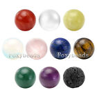 Round Ball Natural Gemstone Chakra Reiki Healing Beads fit Locket Pendant Gift