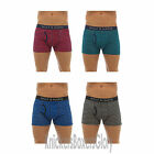 Mens Striped Boxer Shorts/Boxers/Trunks Blue/Green/Grey/Red S M L XL 2 Pairs NEW