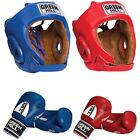 Greenhill Approved AIBA Boxing Set Amateur Fight Punch Bag Leather Jab Pads