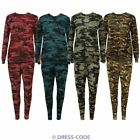 New Ladies Womens Camouflage Army Print Tracksuit Lounge wear Set Pants Joggers