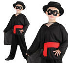 Childrens Kids Bandit Fancy Dress Costume Zorro Outfit Boys Childs 3-10 Yrs