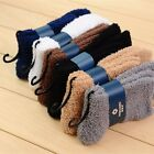 1 Pair Mens Pure Color Cashmere Wool Socks Fluffy Socks Cosy Bed Socks