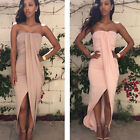 New High Quality Sexy Women Tube Top Off Shoulder Casual Beach Long Sundress