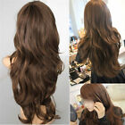 Women's Long Wavy Curly Hair Synthetic Full Wig Black Mix Natural Cosplay Party