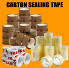 Parcel Packing Tape Brown/Clear/Fragile 50mm x 66m Cartons Sealing Strong Rolls