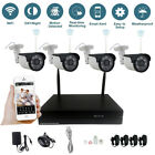 4CH Wireless Wifi NVR Security System HD 720P 960P 1080P IP Camera Outdoor CCTV