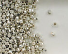 925 Sterling Silver 3mm Mirror Spacer Beads, Choice of Lot Size & Price