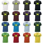 STUFF4 Men's Round Neck T-Shirt/Jamaica/Jamaican Flag Splat/CS