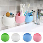 Home Bathroom Toothbrush Wall Mount Holder Sucker Suction Cups Organizer New