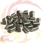 A2 Stainless Cone Point Grub Screws - Hex Socket Set Screw Allen Key M3 M4 M5 M6