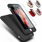 Hybrid Shockproof Hard Slim Case + Tempered Glass Cover For iPhone 6 6s 6+ 5s SE