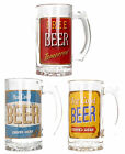 LESSER & PAVEY LP33257 GLASS BEER TANKARD LARGE HANDLED PINT MUG MENS GIFT BOX