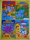 B6 COLOURING BOOKS - PARTY BAG Jungle animals,zoo,farm or sea - Various amounts