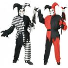 Jester Costume Adult Scary Evil Halloween Fancy Dress