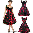 RKL28 Lady Vintage London Madison Cherries Dress Rockabilly Swing Retro Pin Up
