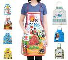 BIB FUNNY PATTERN APRONS CRAFT / WOMEN PARTY KITCHEN COOKING 100% CANVAS