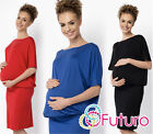 Ladies Maternity Everyday Dress Boat Neck Kimono Mini Tunic Plus Sizes 8-18 FM17
