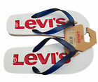 MENS LEVIS FLIP FLOPS SANDALS BEACH 224489 - WHITE