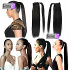 Top Quality Long Silky Straight Ponytail Human Hair Extensions 100g many colors