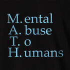 Funny Maths T-shirt Mental Abuse To Humans geek nerd clothing top tee teacher
