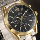 KS Luxury Mens Stainless Steel Date Day Display Automatic Mechanical Sport Watch