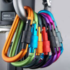 Aluminum Carabiner D-Ring Key Chain Clip Hook 8 Colors