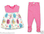 Baby Girls 2 Piece Leggings and Top Set 0,3,6,9,12 Months