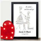 Personalised Engagement Gifts - Congratulations Engagement Presents Word Art