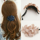 Chic Women Girl Elegants Handmade Flower Banana Barrette Hair Clip Hair Pin Claw