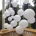 10 Pcs White Paper lanterns 6-16 Inches Round Lamps Party Wedding Decoration