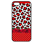 Case Cover Leopard Red iPhone 4 / 5 / 6 / Galaxy S4 / S5 / S6 / S7 Print 2D P16