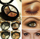 Pro Smoky Cosmetic Set 3 Color Matte Eyeshadow Makeup Eye Shadow Palette Glitter