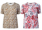 New PLUS SIZE Women's Printed Ladies Casual Wear Long Top 14/16-30/32
