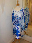 Gina Bacconi Blue/Lilac Floral Print Dress SLL5125