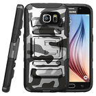 For Samsung Galaxy S6 Active Shockproof Dual Layer Kickstand Case GRAY CAMO