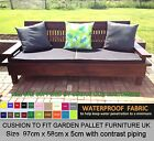 97cm x 58cm PIPED WATERPROOF CUSHION FOR PALLET FURNITURE UK GARDEN FURNITURE