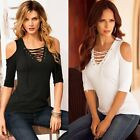 Fashion Women Summer Cotton Top Short Sleeve Blouse Ladies Casual Tops T-Shirt
