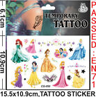 Lot Princess Children Cartoon Temporary Tattoos Stickers fashion Gifts J51