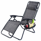 Folding Zero Gravity Reclining Lounge Chair Outdoor Beach Patio W/Utility Tray cheap