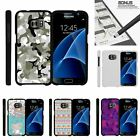 For Samsung Galaxy S7| Slim Fit Hard 2 Piece Case Swamp Camouflage