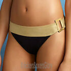 Freya Swimwear Supernova Bikini Briefs/Bottoms Black/Gold NEW 9535 Select Size