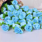 50Pcs Roses Artificial Silk Flower Heads DIY Small Bud Party Wedding Home Decor