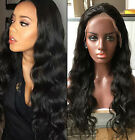Brizilian loose water wavey halo Human Hair Lace Front Full Lace Wig bleach knot
